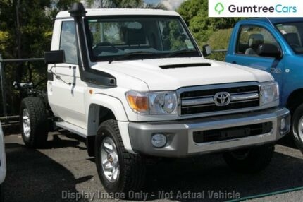 2011 Toyota Landcruiser VDJ79R MY10 GXL White 5 Speed Manual Cab Chassis Moonah Glenorchy Area Preview