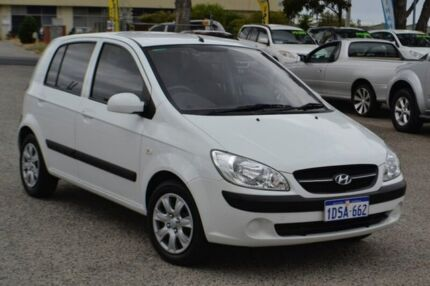 2010 Hyundai Getz TB MY09 SX White 5 Speed Manual Hatchback Pearsall Wanneroo Area Preview