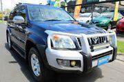 2007 Toyota Landcruiser Prado KDJ120R Grande Blue 5 Speed Automatic Wagon West Footscray Maribyrnong Area Preview