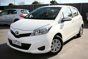 2013 Toyota Yaris White Automatic Hatchback Frankston Frankston Area Preview
