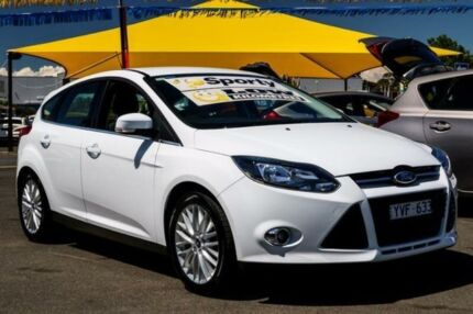 2012 Ford Focus LW MKII Sport PwrShift White 6 Speed Sports Automatic Dual Clutch Hatchback Ringwood East Maroondah Area Preview