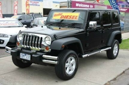2007 Jeep Wrangler JK Unlimited Sport Black 5 Speed Automatic Softtop Altona North Hobsons Bay Area Preview