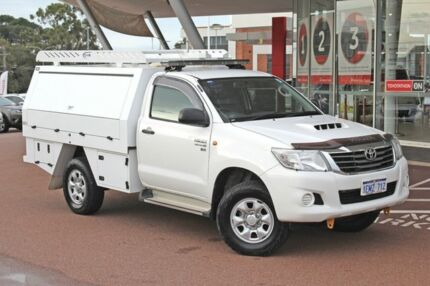 2013 Toyota Hilux KUN26R MY12 SR Glacier White 4 Speed Automatic Cab Chassis