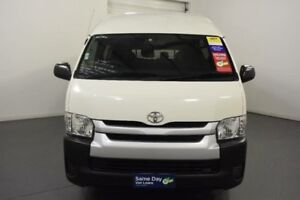 2014 Toyota Hiace KDH223R MY14 Commuter High Roof Super LWB White Automatic Bus