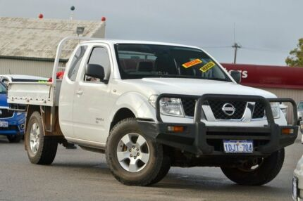 2010 Nissan Navara D40 RX White 6 Speed Manual Utility Morley Bayswater Area Preview