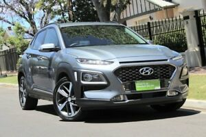 2017 Hyundai Kona OS MY18 Highlander D-CT AWD Lake Silver 7 Speed Sports Automatic Dual Clutch Wagon Nailsworth Prospect Area Preview