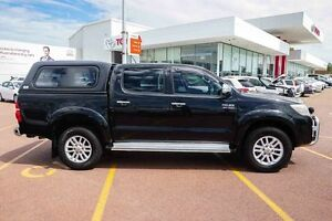2013 Toyota Hilux KUN26R MY12 SR5 Double Cab Black 5 Speed Manual Utility Westminster Stirling Area Preview