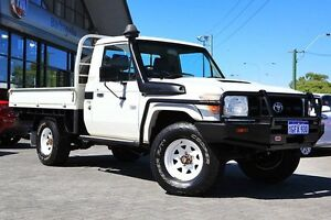 2008 Toyota Landcruiser VDJ79R Workmate White 5 Speed Manual Cab Chassis Osborne Park Stirling Area Preview