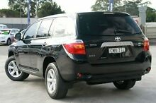 2010 Toyota Kluger GSU40R KX-R 2WD Black 5 Speed Sports Automatic Wagon Pennant Hills Hornsby Area Preview