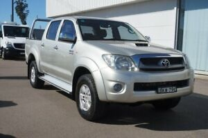 2009 Toyota Hilux KUN26R MY09 SR5 Silver 5 Speed Manual Utility Cardiff Lake Macquarie Area Preview