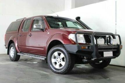 2006 Nissan Navara D40 ST-X DUAL CAB Red Manual Utility Underwood Logan Area Preview