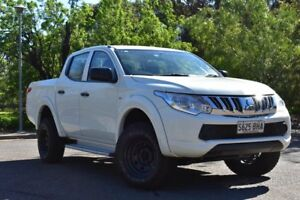 2015 Mitsubishi Triton MQ MY16 GLX Double Cab White 5 Speed Sports Automatic Utility St Marys Mitcham Area Preview