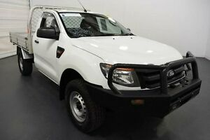 2012 Ford Ranger PX XL 3.2 (4x4) White 6 Speed Automatic Cab Chassis Moorabbin Kingston Area Preview