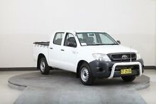 2010 Toyota Hilux TGN16R 09 Upgrade Workmate White 5 Speed Manual Dual Cab Pick-up Smithfield Parramatta Area Preview