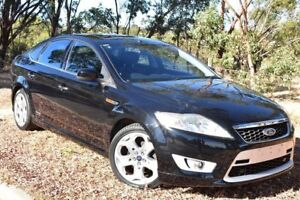 2008 Ford Mondeo MA XR5 Turbo Black 6 Speed Manual Hatchback St Marys Mitcham Area Preview