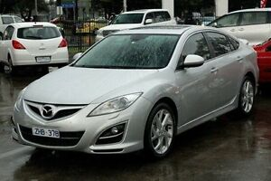 2012 Mazda 6 GH1052 MY12 Luxury Sports Silver 5 Speed Sports Automatic Hatchback Croydon Maroondah Area Preview