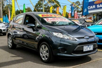 2010 Ford Fiesta WT CL PwrShift Grey 6 Speed Sports Automatic Dual Clutch Hatchback Ringwood East Maroondah Area Preview
