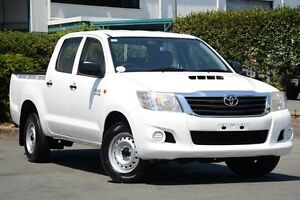 2011 Toyota Hilux KUN16R MY12 SR Double Cab White 5 Speed Manual Utility Acacia Ridge Brisbane South West Preview