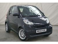 2010 smart fortwo coupe 0.8 PASSION CDI 2d AUTO 54 BHP Diesel black Automatic