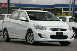 2015 Hyundai Accent RB2 MY15 Active White 6 Speed Manual Sedan Brendale Pine Rivers Area Preview