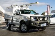 2013 Toyota Hilux KUN26R MY12 SR Glacier White 5 Speed Manual Cab Chassis Glendalough Stirling Area Preview