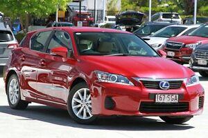 2012 Lexus CT200H ZWA10R Prestige Red/Black 1 Speed Constant Variable Hatchback Toowong Brisbane North West Preview