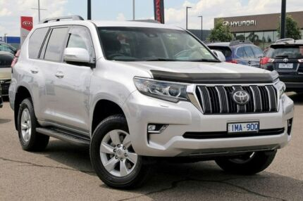 2018 Toyota Landcruiser Prado GDJ150R GXL Silver 6 Speed Sports Automatic Wagon Strathmore Moonee Valley Preview