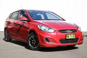 2011 Hyundai Accent RB Active Red 4 Speed Sports Automatic Hatchback Kings Park Blacktown Area Preview