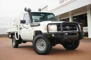 2013 Toyota Landcruiser VDJ79R MY13 Workmate White 5 Speed Manual Cab Chassis Balcatta Stirling Area Preview