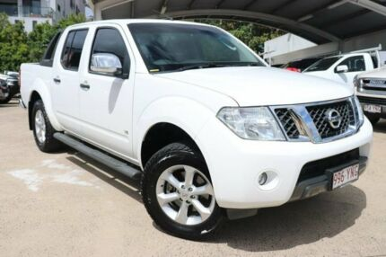 2013 Nissan Navara D40 S5 MY12 ST-X White 7 Speed Sports Automatic Utility Mount Gravatt Brisbane South East Preview