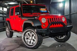 2008 Jeep Wrangler JK Unlimited Sport Red 4 Speed Automatic Softtop Wangara Wanneroo Area Preview