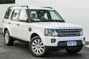 2014 Land Rover Discovery Series 4 L319 MY14 TDV6 White 8 Speed Sports Automatic Wagon