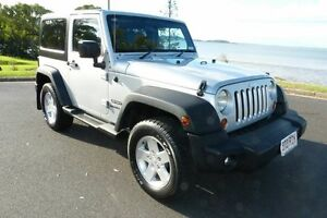 2010 Jeep Wrangler JK MY2010 Sport Silver 4 Speed Automatic Softtop South Gladstone Gladstone City Preview