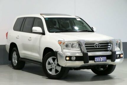 2013 Toyota Landcruiser VDJ200R MY13 VX (4x4) Pearl White 6 Speed Automatic Wagon Bentley Canning Area Preview