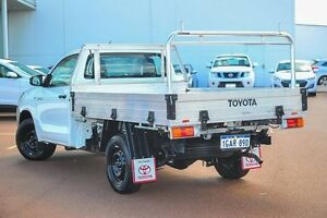 2016 Toyota Hilux TGN121R Workmate White 5 Speed Manual Cab Chassis Wangara Wanneroo Area Preview