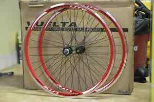 Vuelta ZeroLite Track Comp 700c wheelset red, single/fixed/fixie