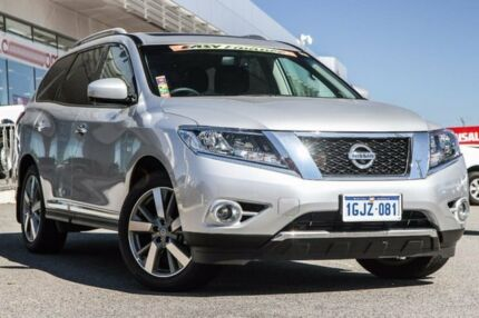 2016 Nissan Pathfinder R52 MY16 Ti X-tronic 4WD Silver 1 Speed Constant Variable Wagon