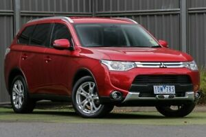 2015 Mitsubishi Outlander ZJ MY14.5 LS 4WD Red Metallic 6 Speed Sports Automatic Wagon