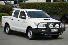 2012 Toyota Hilux KUN16R MY12 SR Double Cab Glacier White 5 Speed Manual Utility Acacia Ridge Brisbane South West Preview