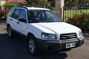 2005 Subaru Forester MY05 X White 5 Speed Manual Wagon Blair Athol Port Adelaide Area Preview