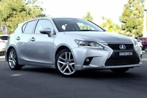 2014 Lexus CT200H ZWA10R MY14 Sports Luxury Silver 1 Speed Constant Variable Hatchback Hybrid Kirrawee Sutherland Area Preview