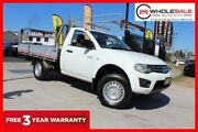 2012 Mitsubishi Triton MN MY12 GLX Cab Chassis Single Cab 2dr Man 5sp 1217kg 2.5DT White Manual Minchinbury Blacktown Area Preview