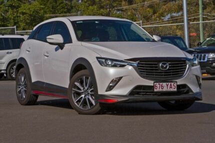 2017 Mazda CX-3 DK4W7A sTouring SKYACTIV-Drive i-ACTIV AWD White 6 Speed Sports Automatic Wagon Hillcrest Logan Area Preview