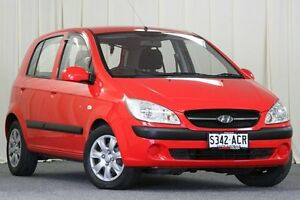 2009 Hyundai Getz TB MY09 SX Red 4 Speed Automatic Hatchback Unley Park Unley Area Preview