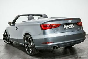 2015 Audi A3 8V MY15 Attraction S tronic Grey 7 Speed Sports Automatic Dual Clutch Cabriolet Rozelle Leichhardt Area Preview