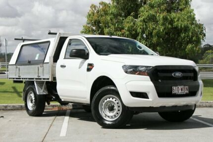 2015 Ford Ranger PX XL 4x2 Hi-Rider White 6 Speed Sports Automatic Cab Chassis Springwood Logan Area Preview