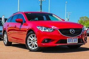 2013 Mazda 6 GJ1031 Sport SKYACTIV-Drive Red 6 Speed Sports Automatic Wagon Wilson Canning Area Preview