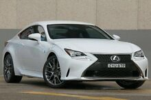 2015 Lexus RC350 GSC10R F Sport White 8 Speed Automatic Coupe Wolli Creek Rockdale Area Preview