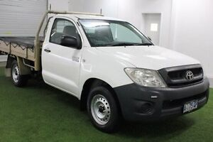 2008 Toyota Hilux TGN16R MY09 Workmate White 5 Speed Manual Cab Chassis Moonah Glenorchy Area Preview