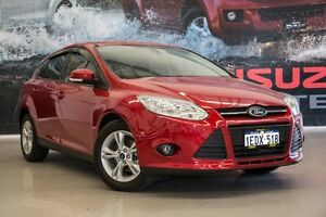 2013 Ford Focus LW MK2 Trend Candy Red 5 Speed Manual Hatchback Hillman Rockingham Area Preview
